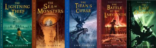Image result for percy jackson book series spines